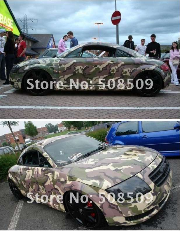 Camouflage samolepka na auto , vel. 127cm x 30m.