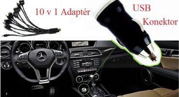 USB KONEKTOR + ADAPTÉR 10 V 1 Busha
