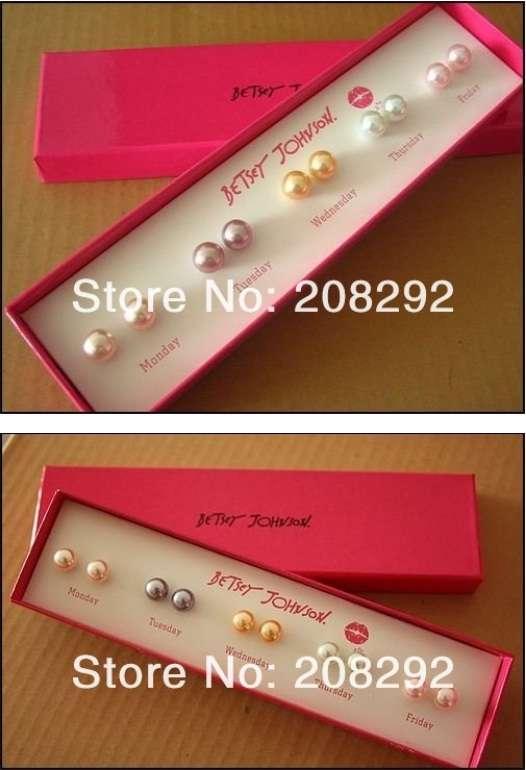 Luxusní perlový set náušnic a náramek
