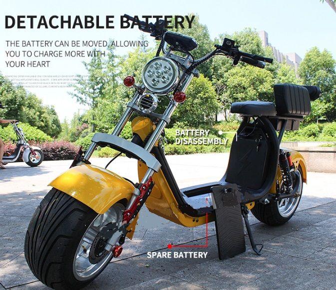 Elektrická koloběžka chooper citycoco N-4 2000w baterie 40 Ah dojezd 140 km černé barvy