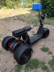 Elektrická tříkolka chooper citycoco 1000w vyndavací baterie 40 Ah dojezd 100 km černé barvy