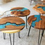 Luxusní pryskyřicový stůl kulatý