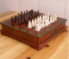 """Staré Sběratelske šachy, """"terakotových válečníků"""""""
